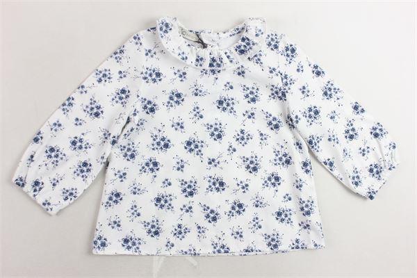 camicia manica lunga collo con rouches microfantasia J.O. MILANO | Camicie | 966C2BIANCO