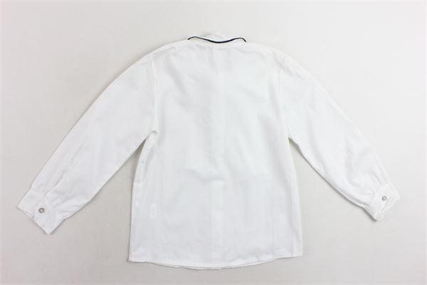 camicia manica lunga con fiocco J.O. MILANO | Camicie | 966E2BIANCO