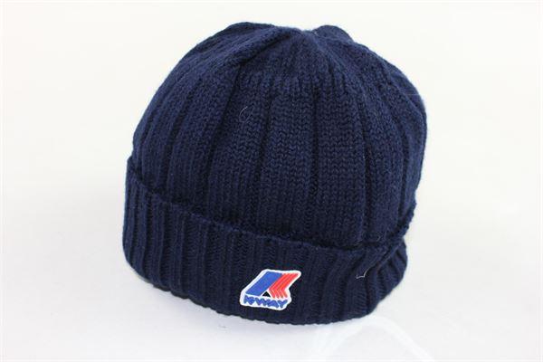 cappelli tinta unita in lana con stampa logo K-WAY | Cappelli | K006YW0BLU