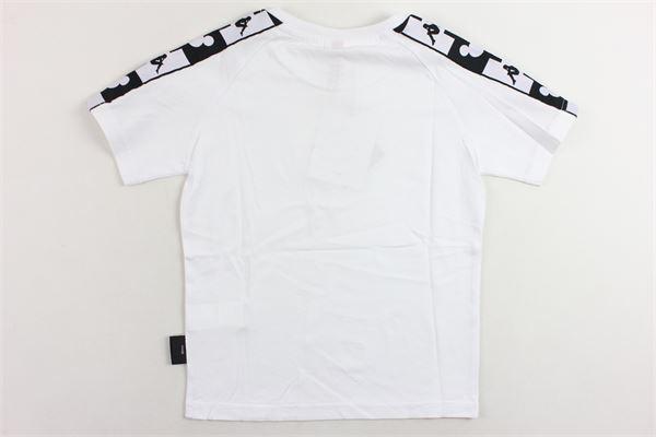 t-shirt mezza manica tinta unita con con bande kappa e mickey mouse KAPPA | T-shirts | 304IRU0BIANCO