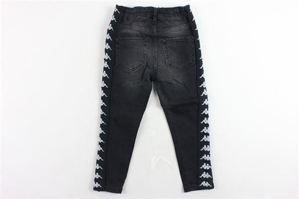 jeans 5 tasche tinta unita profili kappa girovita regolabile KAPPA | Jeans | 304KM70NERO