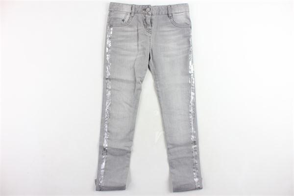 jeans 5 tasche tinta unita profili argentati girovita regolabile KARL LAGERFELD | Jeans | Z14054Z20GRIGIO
