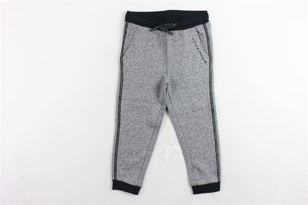 pantalone tuta felpato tinta unita profili in contrasto KARL LAGERFELD | Pantaloni | Z14056.1GRIGIO