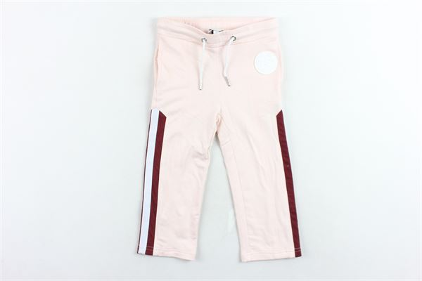 pantalone tuta garzato tinta unita profili in contrasto KARL LAGERFELD | Pantaloni | Z1407745XROSA