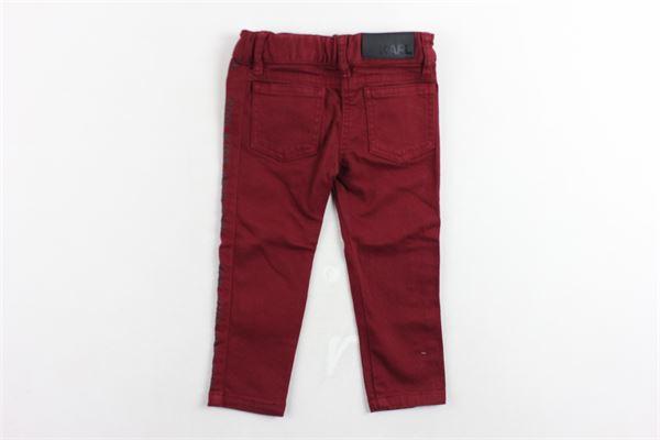 pantalone tinta unita 5 tasche girovita regolabile KARL LAGERFELD | Pantaloni | Z1408295CBORDEAU