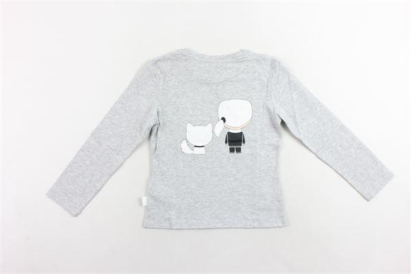 shirt mezza manica tinta unita con stampa KARL LAGERFELD | Shirts | Z15165A32GRIGIO