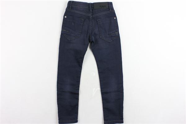 pantalone tinta unita 5 tasche girovita regolabile KARL LAGERFELD | Pantaloni | Z24051Z12BLU
