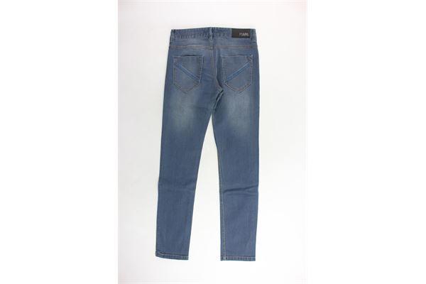 jeans tinta unita 5 tasche KARL LAGERFELD | Jeans | Z24053/Z00BLU
