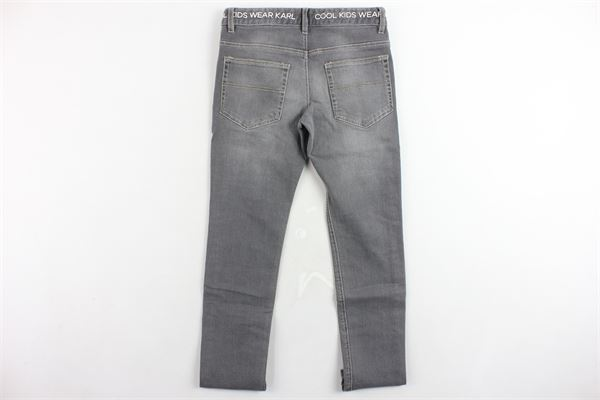 jeans tinta unita 5 tasche girovita regolabile KARL LAGERFELD | Jeans | Z24076Z20GRIGIO