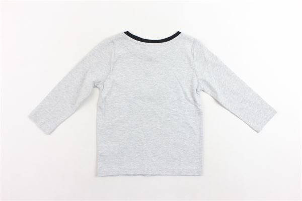 shirt manica lunga tinta unita con stampa KARL LAGERFELD | Shirts | Z25095/A34GRIGIO