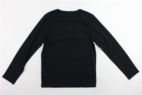 shirt manica lunga tinta unita con stampa KARL LAGERFELD | Shirts | Z2509609BNERO