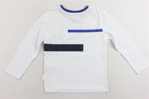 shirt manica lunga tinta unita con stampa KARL LAGERFELD | Shirts | Z2516610BBIANCO