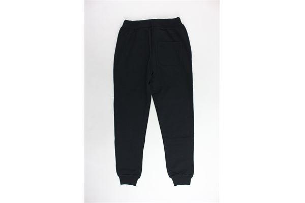 pantalone tuta felpato tinta unita con stampa LA MARTINA | Pantaloni | 82A4076NERO