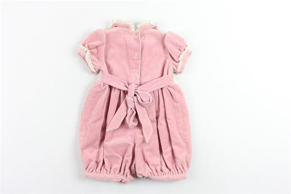 abito modello pagliacetto in velluto con cintura LA STUPENDERIA | Abiti | PAGS02ROSA