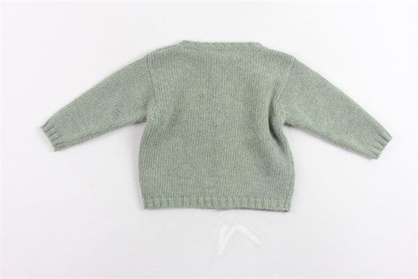 cardigan in lana tinta unita LA STUPENDERIA | Maglie | S24VERDE
