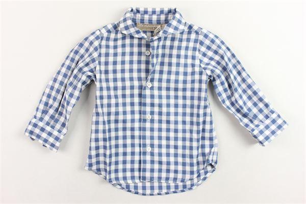 camicia manica lunga fantasia a quadri LA STUPENDERIA | Camicie | TJCM11Y03BLU