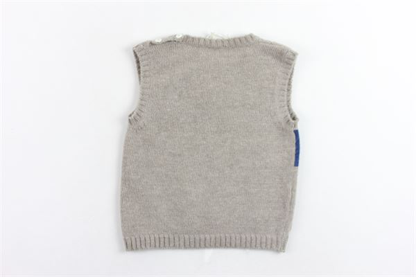 gilet in lana profili in contrasto LA STUPENDERIA | Gilet | VJGL09502-506MARRONE