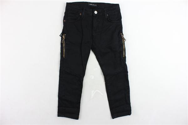 jeans 5 tasche tinta unita con applicazione LABELROUTE | Jeans | 01508NERO