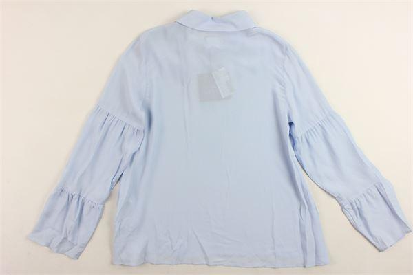 camicia manica lunga tinta unita LANVIN | Camicie | 4H5560.2CELESTE
