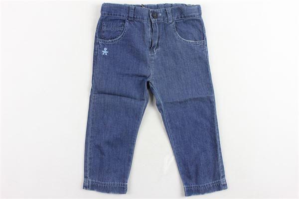 jeans 5 tasche tinta unita girovita regolabile LE BEBE' | Jeans | LBB0952BLU