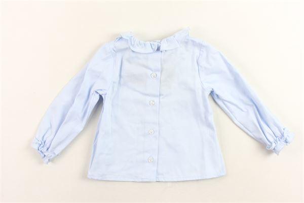 camicia manica lunga tinta unita collo in rouches LE BEBE' | Camicie | LBG1703COCELESTE