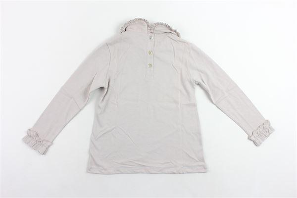 shirt in cotone tinta unita collo tondo in plissè LE PETIT COCO | Shirts | 103300155FANGO