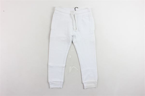pantalone tuta garzato tinta unita profili loggati LES (ART) ISTS | Pantaloni | SIDNEY WHITEBIANCO