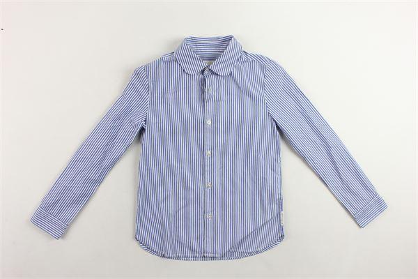 camicia manica lunga a righe LES COYOTES DE PARIS | Camicie | 200.381.1BLU
