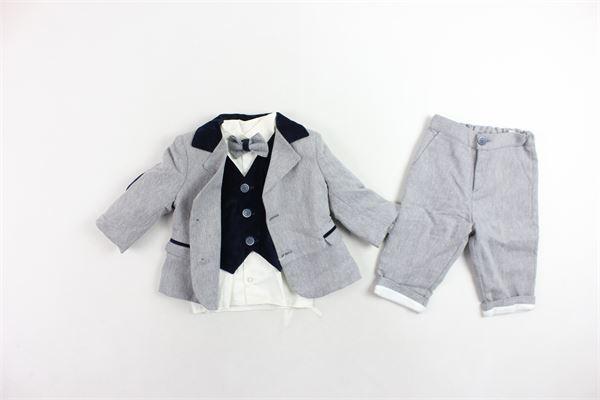 aabito cerimoniale giacca camicia gilet papillion e pantalone LES PETIT ENFANTES | Abiti | M.021GRIGIO