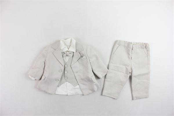 aabito cerimoniale giacca camicia gilet papillion e pantalone LES PETIT ENFANTES | Abiti | M.024BEIGE