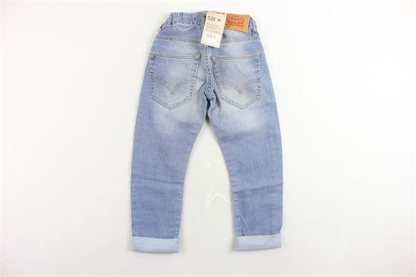 jeans 5 tasche tinta unita con strappi e girovita regolabile LEVI'S   Jeans   NH22267AZZURRO