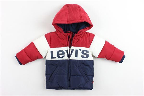 piumino imbottito con cappuccio bicolore stampa levi's LEVI'S   Giubbini   NM4100448ROSSO