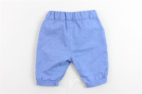 pantalone  tinta unita con bottoni LITTLE BEAR | Pantaloni | 4124.1BLUETTE