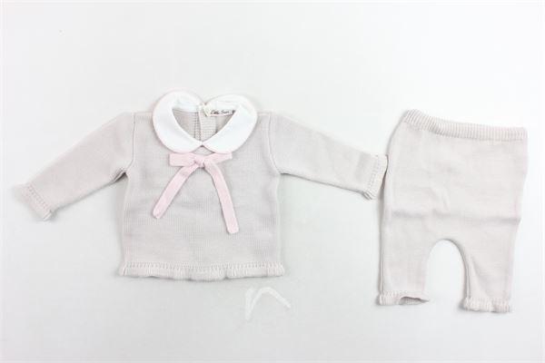 completo maglia con fiocco più pantalone in lana LITTLE BEAR | Completi | 6039ROSA