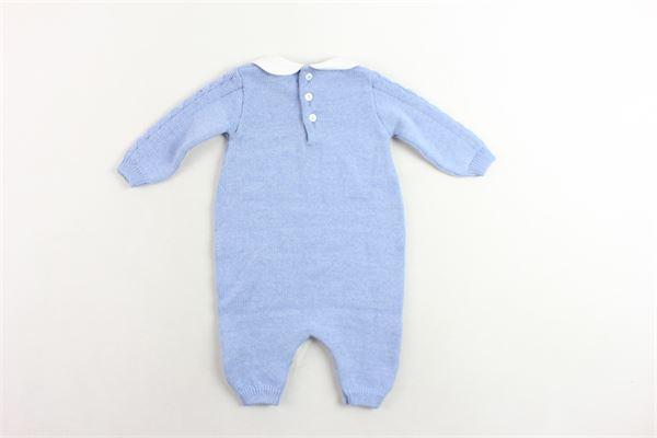 tutina manica lunga in lana vergine tinta unita LITTLE BEAR | Tutine | 6114AZZURRO