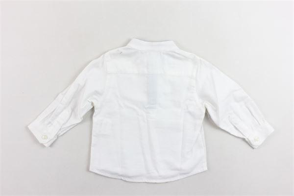 camicia tinta unita collo coreano LITTLE BEAR | Camicie | 623636BIANCO