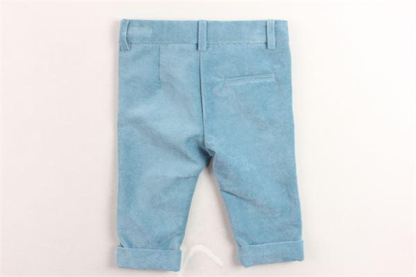 pantalone tasca america in velluto girovita regolabile LITTLE BEAR | Pantaloni | 8217VERDE ACQUA
