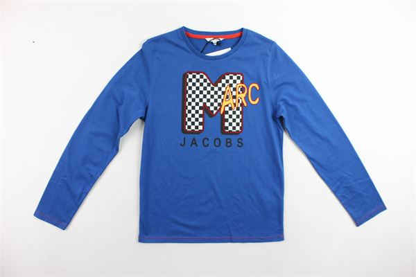 shirt manica lunga con stampa LITTLE MARC JACOB | Shirts | W25292/832COBALTO