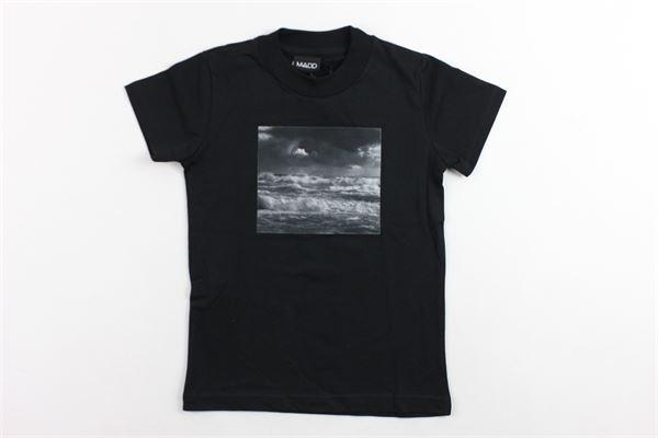 t-shirt mezza manica tinta unita con stampa MADD | T-shirts | B9626NERO