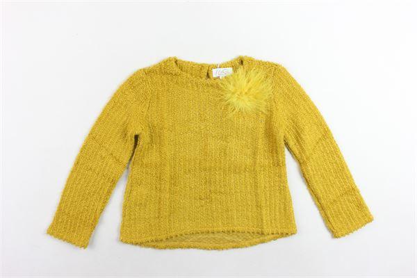 maglione tinta unita con applicazione MAGIL   Maglie   TM21059SENAPE