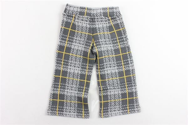 pantalone tinta unita fantasia a quadri MAGIL   Pantaloni   TM25052GRIGIO