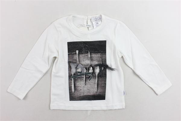 shirt cotone caldo con stampa e applicazioni MAGIL   Shirts   TM26013BIANCO