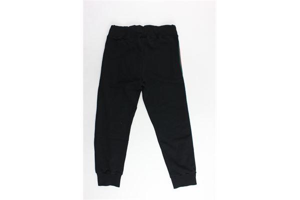 pantalone tuta garzato tinta unita con profili colorati MAISON 9 PARIS | Pantaloni | 814NERO