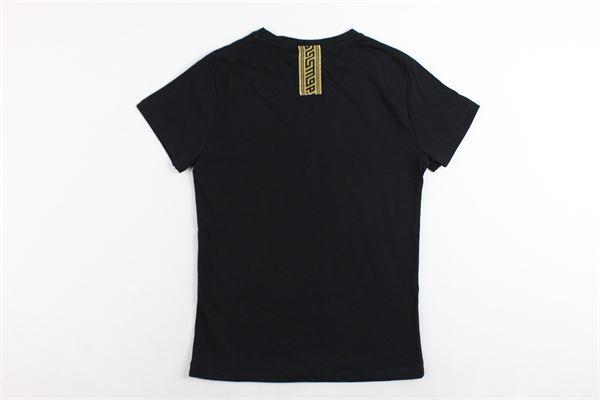 t-shirt mezza manica tinta unita con stampa MAISON 9 PARIS | T-shirts | 826NERO