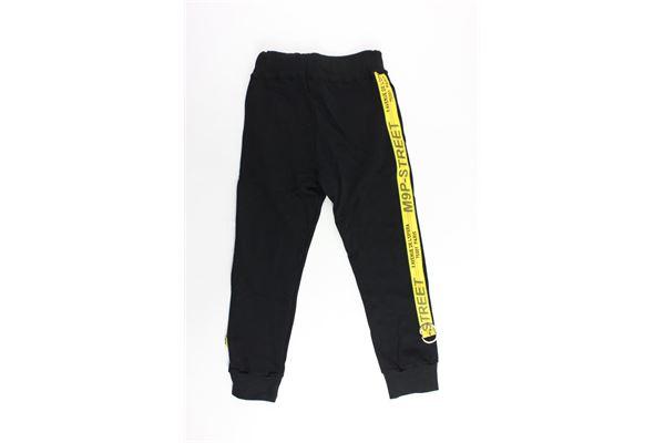 pantalone tuta garzato tinta con profili in contrasto MAISON 9 PARIS | Pantaloni | 883NERO