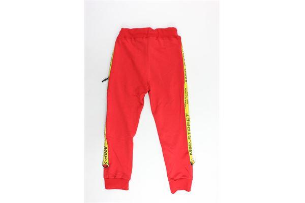pantalone tuta garzato tinta con profili in contrasto MAISON 9 PARIS | Pantaloni | 883ROSSO