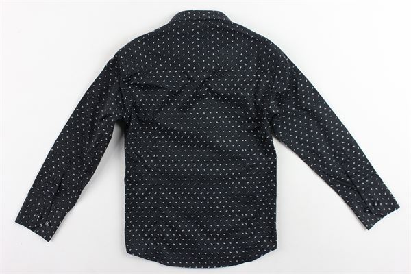 camicia manica lunga microfantasia MANUEL & FRANK | Camicie | MF3011BNERO