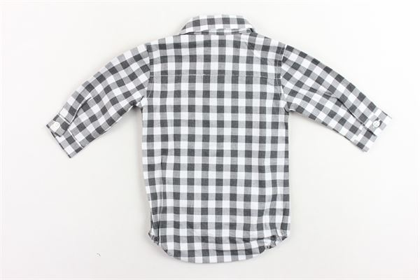 camicia a body  manica lunga fantasaia a quadri MANUEL & FRANK | Camicie | MF3024INERO