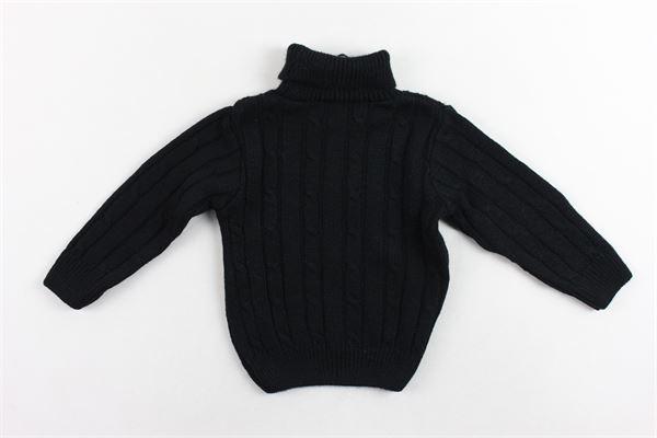 maglione collo alto in lana tinta unita MANUEL & FRANK | Maglie | MF4044NNERO