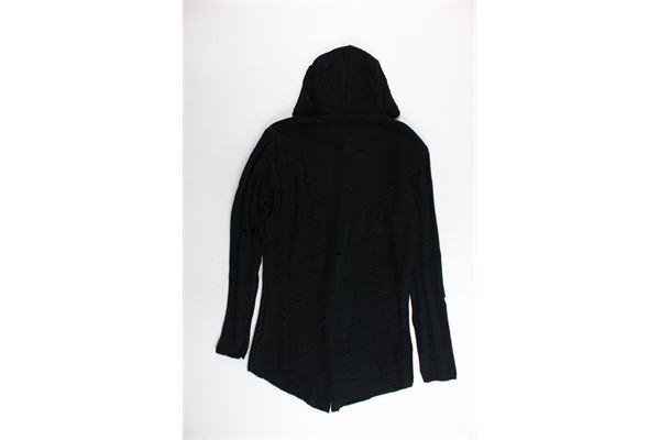 cardigan lungo in lana con cappuccio MANUEL & FRANK | Maglie | MF404ORNERO